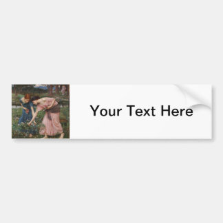 J.W. Waterhouse Gather Ye Rosebuds Bumper Sticker