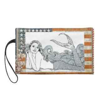 J Wristlet of  Stars & Stripes Mermaid