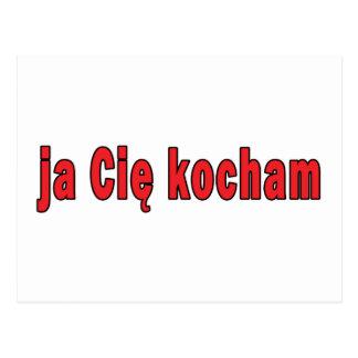 ja Cie kocham - I Love You Postcard