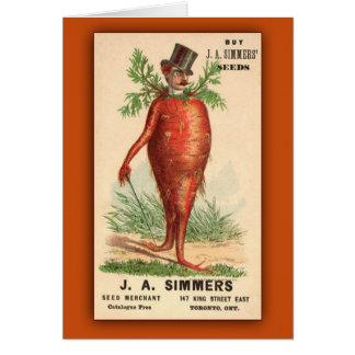 JA Simmers Seeds Vintage Ad Card