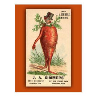 JA Simmers Seeds Vintage Ad Postcard