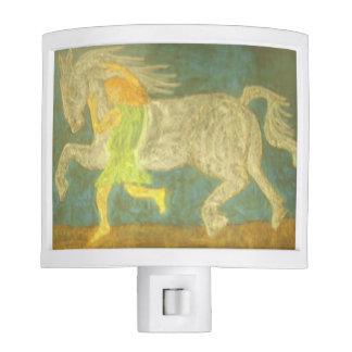 Jabal Tames the Wild Stallion Night Light