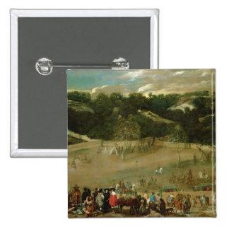 Jabalí de búsqueda de Philip IV, c.1632-7 Pin Cuadrada 5 Cm