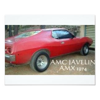 """JABALINA AMX 1974 DE AMC INVITACIÓN 4.25"""" X 5.5"""""""