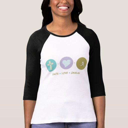 Jabalina del amor de la fe camisetas