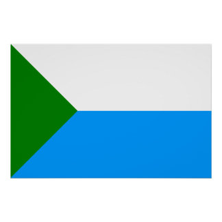 Jabárovsk Krai, bandera de Rusia Poster