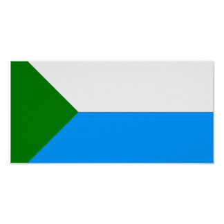 Jabárovsk Krai, bandera de Rusia Posters