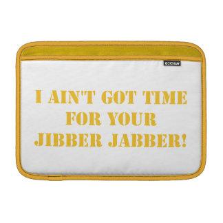 Jabber anaranjado de Jibber Fundas Para Macbook Air