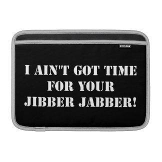 Jabber blanco de Jibber Funda Para Macbook Air