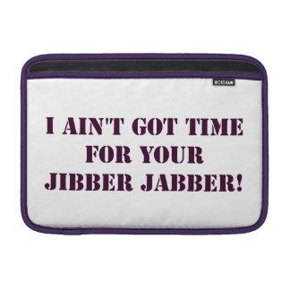 Jabber de Jibber de la berenjena Funda Para Macbook Air