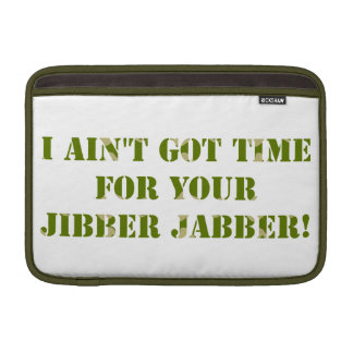 Jabber de Jibber del camuflaje Funda MacBook