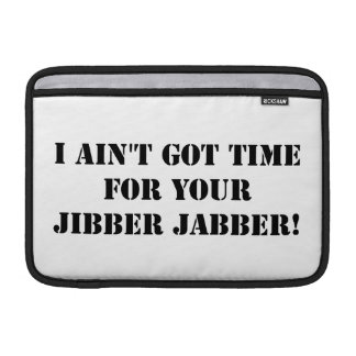 Jabber negro de Jibber Fundas Para Macbook Air