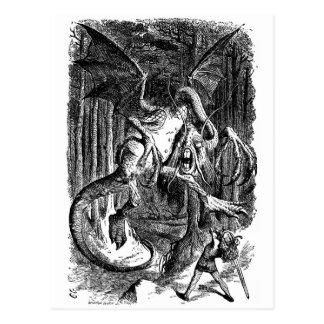 Jabberwocky & Alice Postcard