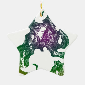 Jabberwocky and Alice Christmas Tree Ornaments