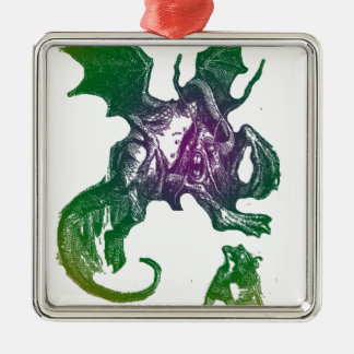Jabberwocky and Alice Christmas Ornaments