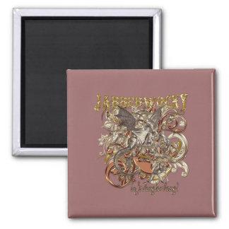 Jabberwocky Carnivale Style (Gold Version) Magnet