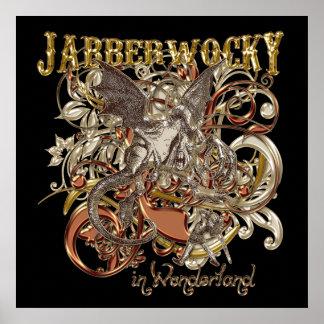 Jabberwocky Carnivale Style (Gold Version) Poster