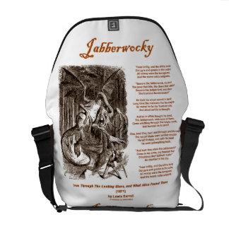 Jabberwocky (Lewis Carroll Through Looking Glass) Courier Bags