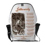 Jabberwocky (Lewis Carroll Through Looking Glass) Messenger Bags