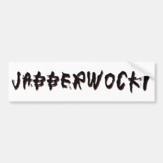 Jabberwocky Pegatina Para Auto