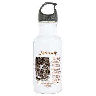 Jabberwocky Poem by Lewis Carroll (Black Adder) 18oz Water Bottle