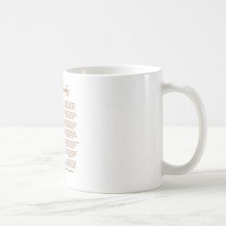 Jabberwocky Poem by Lewis Carroll (Black Adder) Classic White Coffee Mug