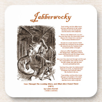 Jabberwocky Poem by Lewis Carroll (Black Adder) Drink Coaster