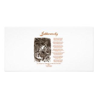 Jabberwocky Poem by Lewis Carroll (Black Adder) Photo Greeting Card