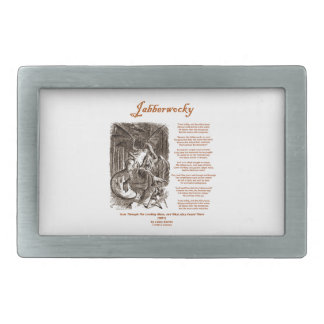 Jabberwocky Poem by Lewis Carroll (Black Adder) Rectangular Belt Buckle
