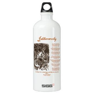 Jabberwocky Poem by Lewis Carroll (Black Adder) SIGG Traveler 1.0L Water Bottle