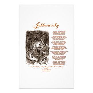 Jabberwocky Poem by Lewis Carroll (Black Adder) Stationery