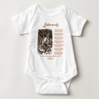 Jabberwocky Poem by Lewis Carroll (Black Adder) T Shirt