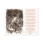Jabberwocky Poem by Lewis Carroll Gallery Wrapped Canvas