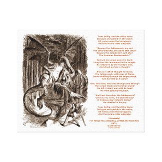 Jabberwocky Poem by Lewis Carroll Canvas Print