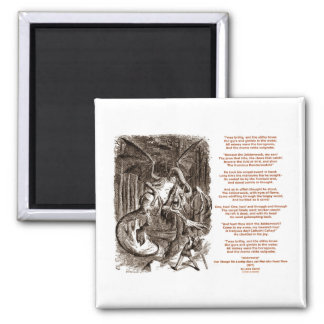 Jabberwocky Poem by Lewis Carroll Refrigerator Magnet