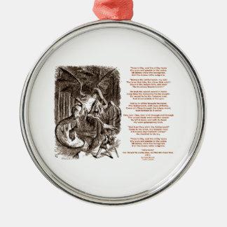 Jabberwocky Poem by Lewis Carroll Christmas Ornament