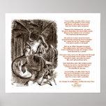 Jabberwocky Poem by Lewis Carroll Posters