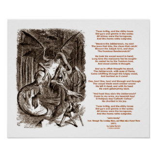 Jabberwocky Poem by Lewis Carroll Posters