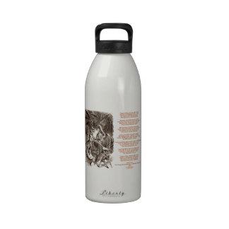 Jabberwocky Poem by Lewis Carroll Water Bottles
