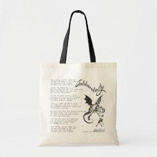 Jabberwocky Poem Tote Bag