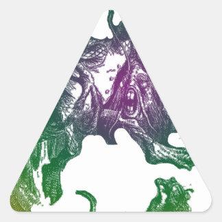 Jabberwocky y Alicia Pegatina Triangular