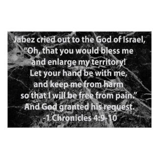 Jabez's Prayer Poster