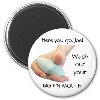 Jabón a disposición imán redondo 5 cm