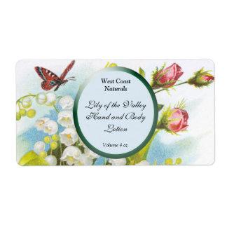 Jabón de la mariposa y plantilla de la etiqueta de etiquetas de envío