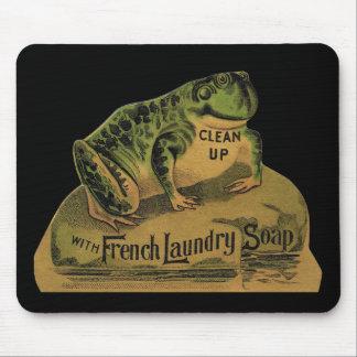 Jabón de lavadero francés de la rana alfombrillas de ratón