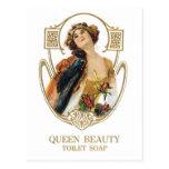 Jabón de retrete de la belleza de la reina tarjetas postales
