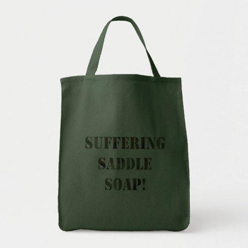 Jabón de silla de montar sufridor bolsa de mano