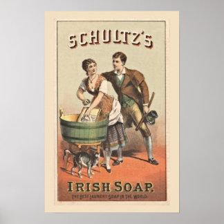 Jabón del irlandés de Shultz del poster del