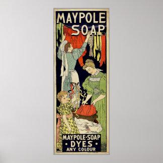 Jabón del Maypole Póster
