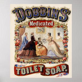 Jabón del retrete medicado de los caballos de labo impresiones